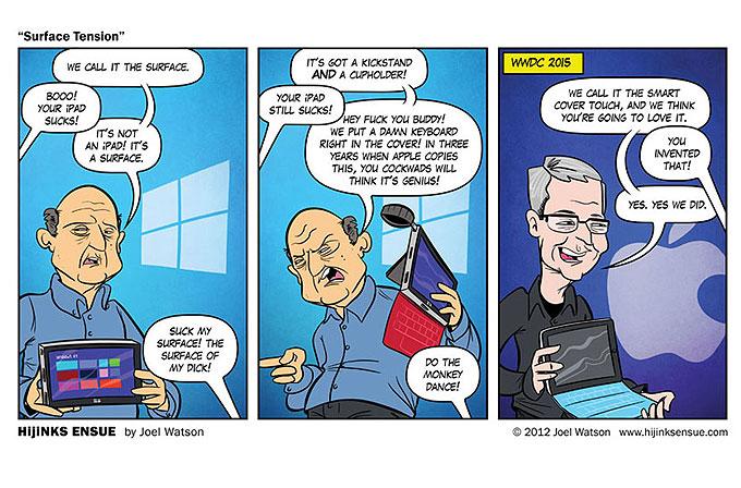 iPad Pro klavyesini 3 yıl önceden bilen karikatür