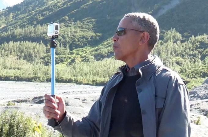 Barack Obama selfie çubuğu ile Alaska gezisi yaptı