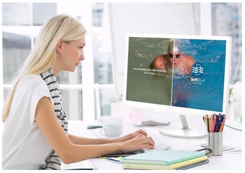Philips SoftBlue ekranları, gözleri renkten ödün vermeden koruyor