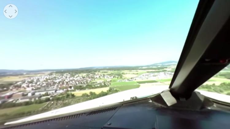 Airbus'un kalkışını 360 derece kokpitten izleyin