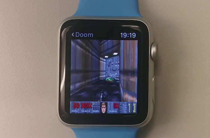 DOOM'u Apple Watch ve Apple TV'de çalıştırdılar