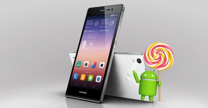 Huawei Ascend P7 için Lollipop güncellemesi çıktı
