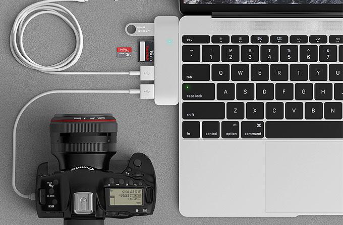 Yeni MacBook için çok işlevli hub