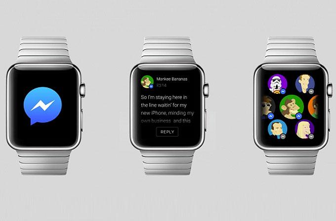 Facebook Messenger Apple Watch'a geldi