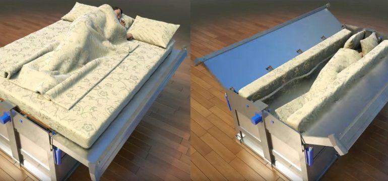 Depremden koruyan yatak