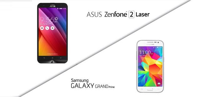 Asus ZenFone 2 Laser mı? Samsung Galaxy Grand Prime mı?