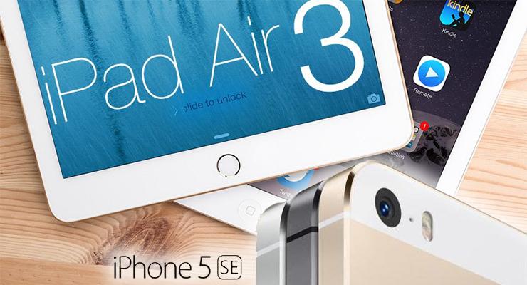 iPhone 5SE ve iPad Air3'ün tanıtım tarihleri sızdırıldı.