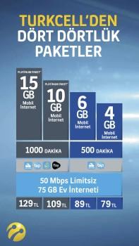 Turkcell dört dörtlük paketler görsel