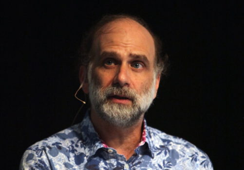 Bruce Schneier at the Congress on Privacy & Surveillance (CoPS213) at the École Polytechnique Fédérale de Lausanne.