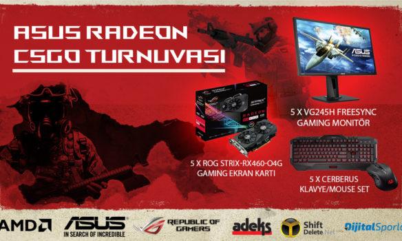 AMD ve ASUS Oyunseverleri ASUS Radeon CS:GO Turnuvasına Bekliyor