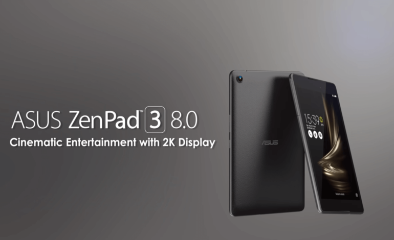 ASUS, 2K Çözünürlüklü ZenPad 3 8.0 Tabletini Tanıttı