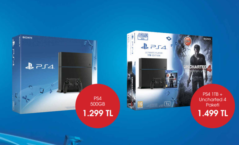 PlayStation 4 Modellerinin Yeni Fiyatları Belli Oldu