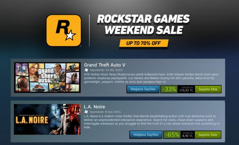 Steam'de Rockstar Oyunları İndirimde!