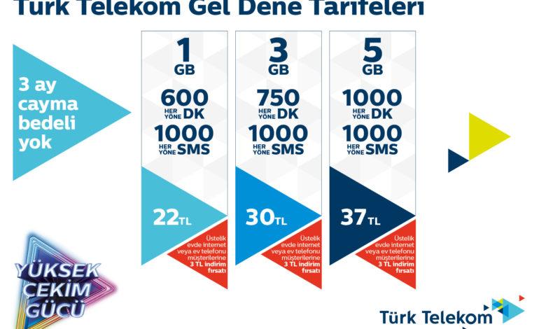 Türk Telekom'dan Herkese 'Gel Dene' Diyen Mobil Tarifeler