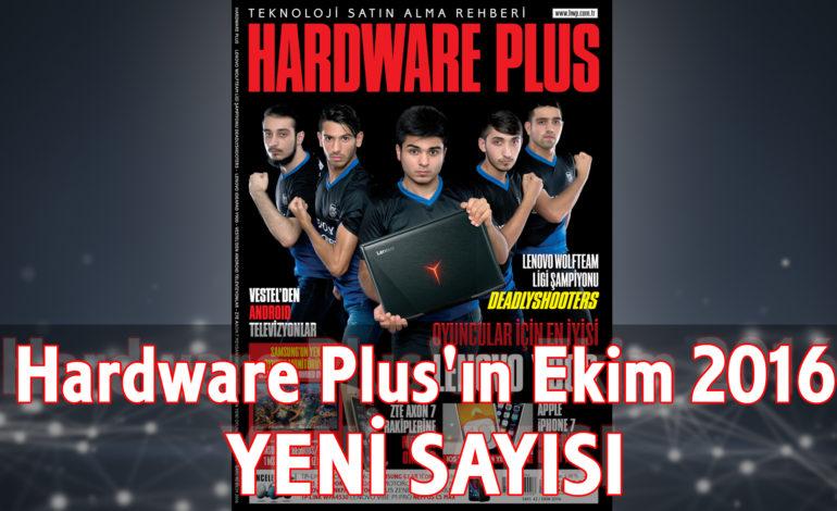 Hardware Plus Ekim 2016 Sayısı Bayilerde