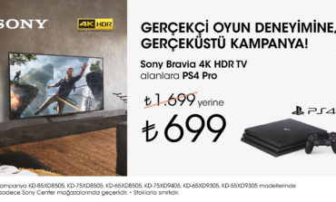 Sony 4K Televizyon Alanlara PS4 Pro 699TL!