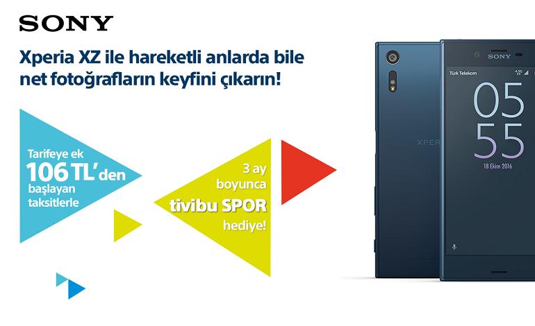 Sony Xperia XZ, Türk Telekom Mağazaları'nda!