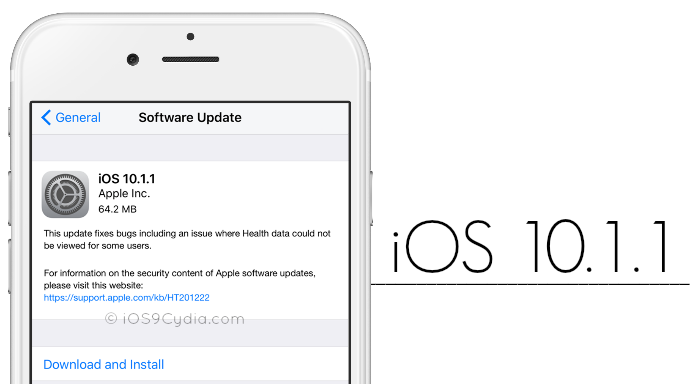 iOS 10.1.1 Yayınlandı