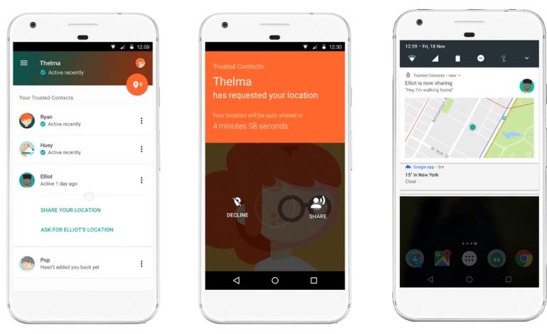 Google, Trusted Contacs ile Acil Durumlarda Yanınızda