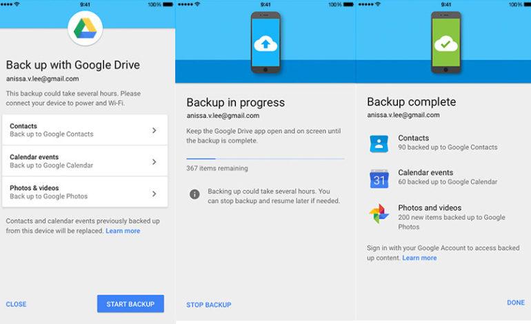 Google Drive ile iPhone'dan Android'e Geçmek Artık Daha Kolay
