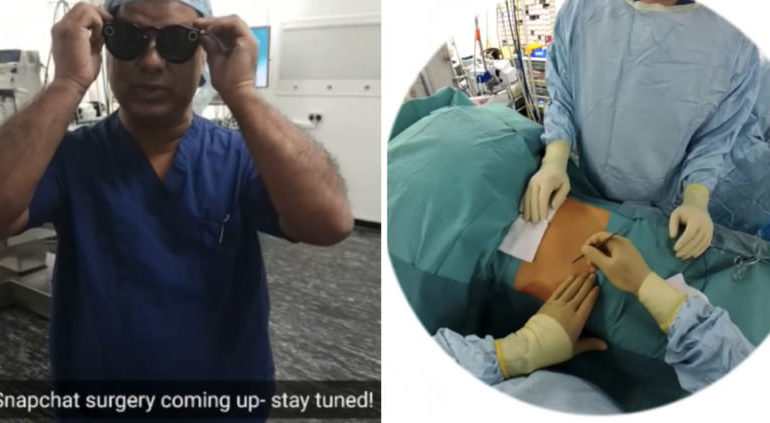 Snapchat Spectacles ile İlk Defa Bir Ameliyat Kaydedildi