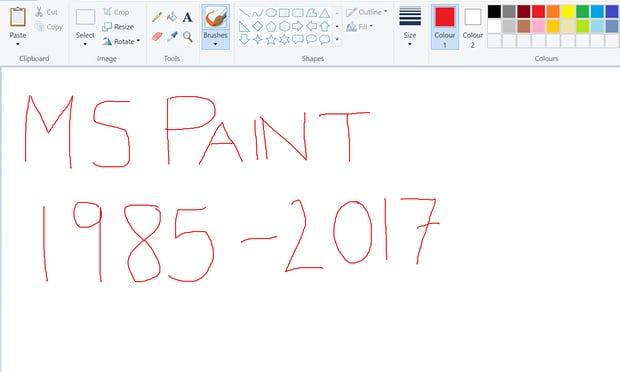 Microsoft Paint, 32 Yılın Ardından Veda Etmeye Hazırlanıyor