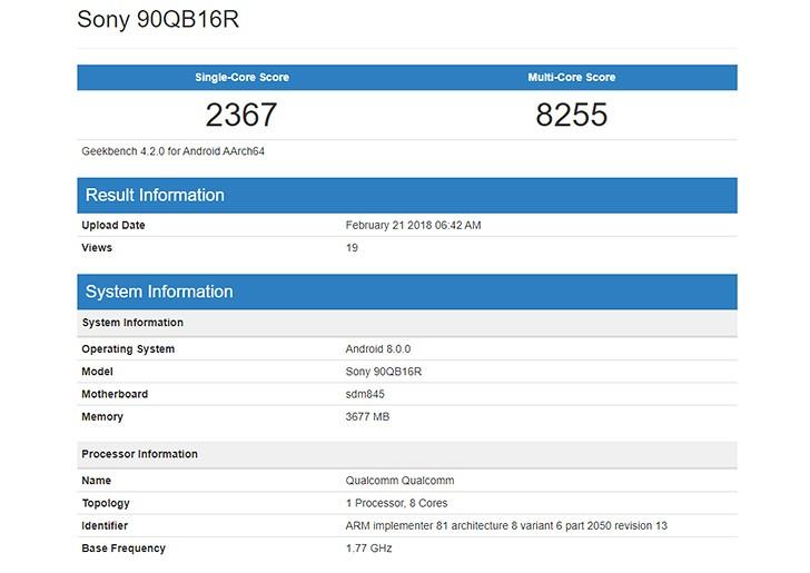 Snapdragon 845 işlemci yongası