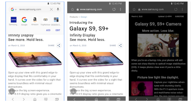 Samsung internet tarayıcısı artık daha hızlı ve güvenli