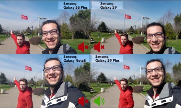 Galaxy S9, S9+, S8+ ve Note 8 video karşılaştırması!