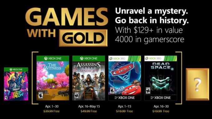 Xbox Live Gold Nisan 2018