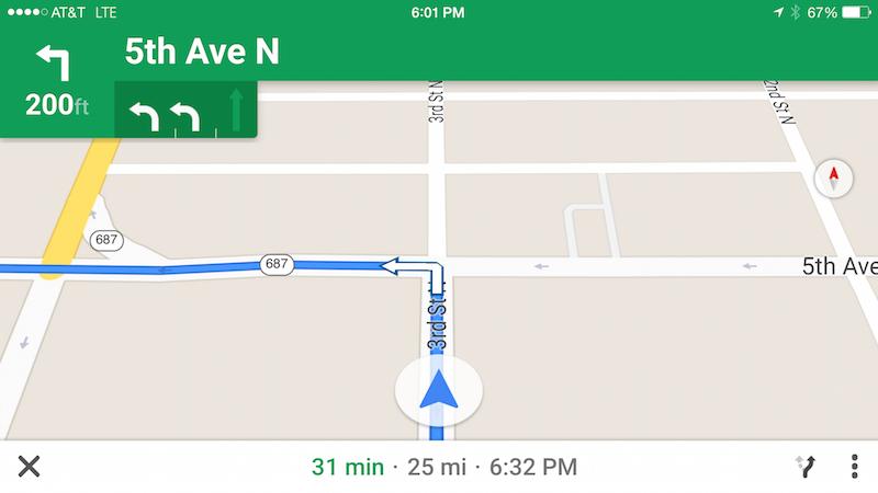 Google Maps yönlü tarif