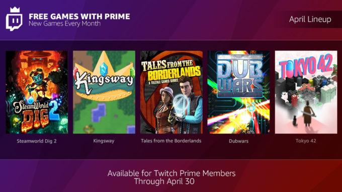 Twitch Prime Nisan 2018