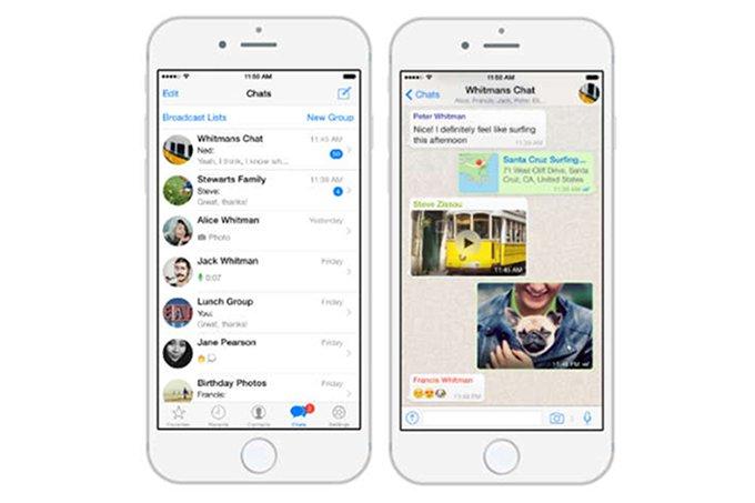 WhatsApp, iOS uygulamasına birçok yenilik geldi
