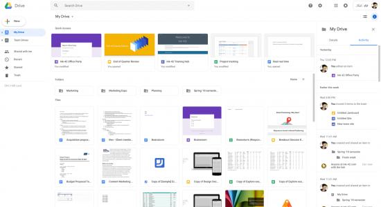 Google Drive yeni tasarım