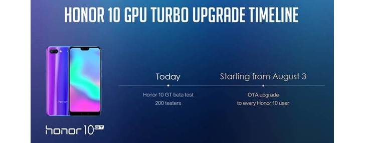 Honor 10 GPU Turbo