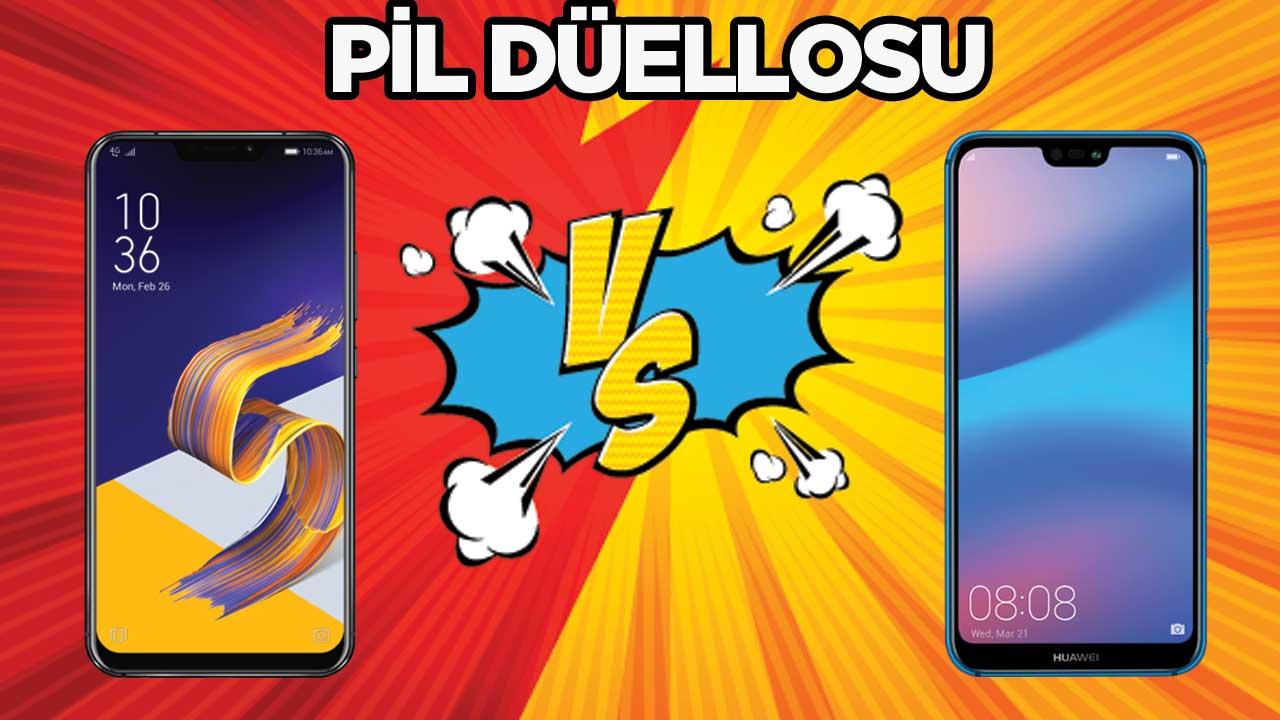 Pil Düellosu: ASUS Zenfone 5 vs P20 Lite