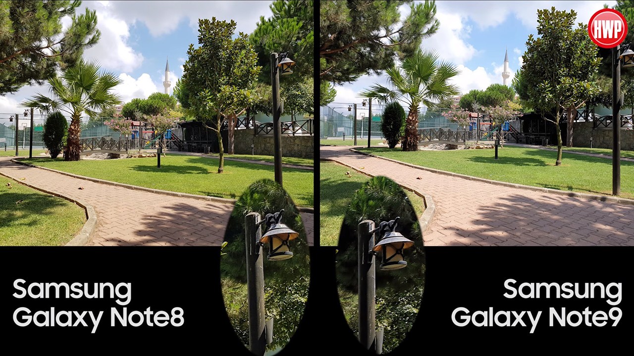 Samsung Galaxy Note9 vs Samsung Galaxy Note8 kamera karşılaştırması