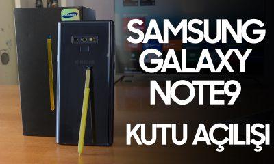 Samsung Galaxy Note 9 kutu açılışı