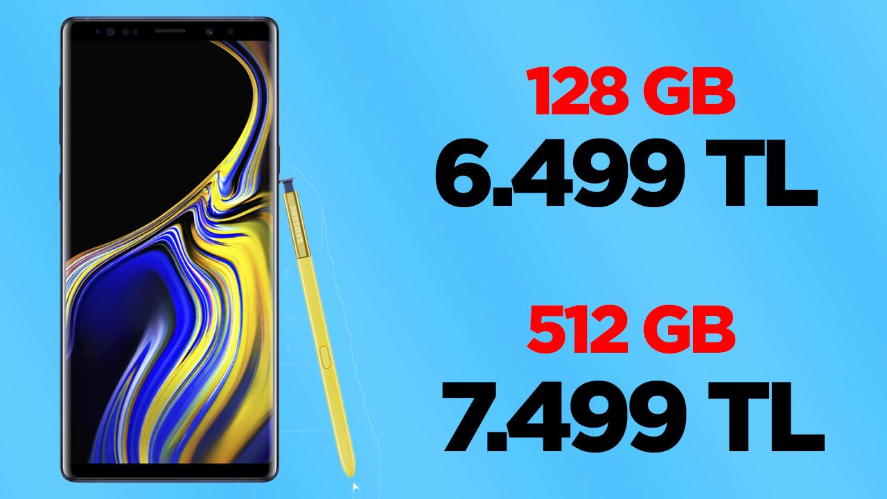 Galaxy Note 9 fiyatı