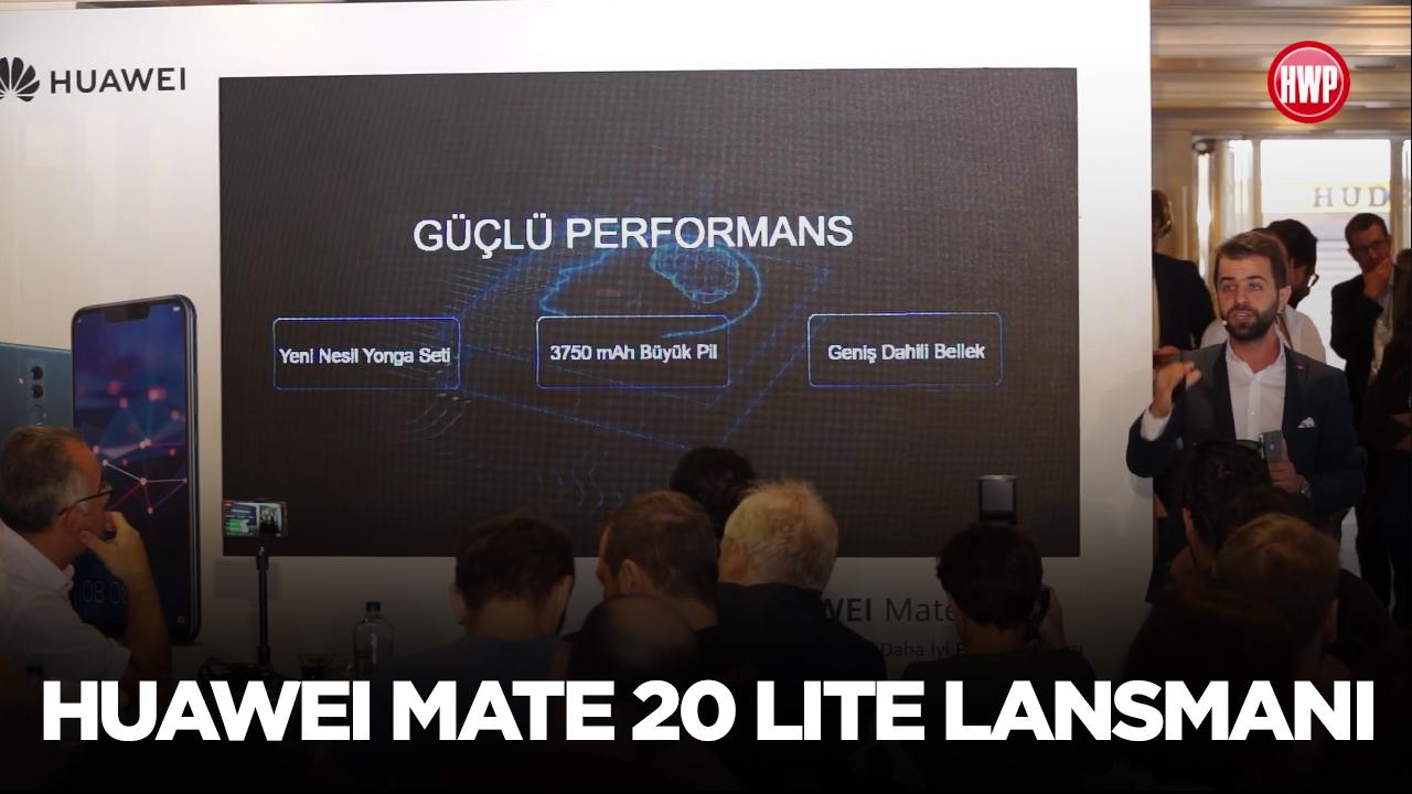 Huawei Mate 20 Lite lansmanı
