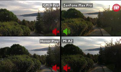Honor Play, GM 9 Pro, Mi A2, Zenfone Max Pro video karşılaştırma