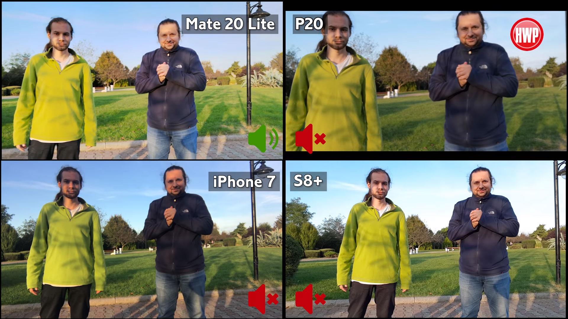 Huawei Mate 20 Lite, P20, iPhone 7 ve Galaxy S8 Plus video karşılaştırma