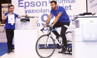 Epson, WorkForce yazıcılarının enerji tasarrufunu bisiklet deneyiyle ispatladı