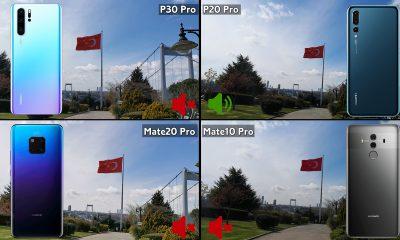 Huawei P30 Pro, Mate 20 Pro, P20 Pro ve Mate 10 Pro video karşılaştırma!