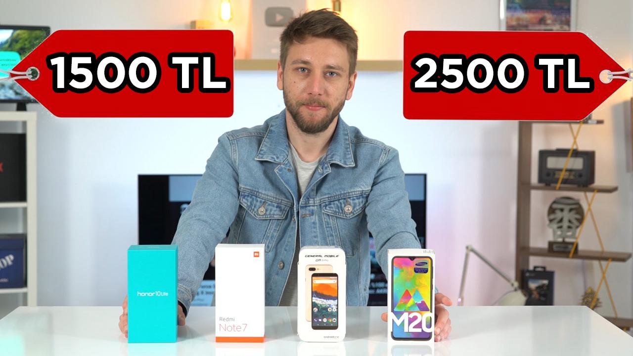 1500 TL - 2500 TL arası en iyi akıllı telefonlar