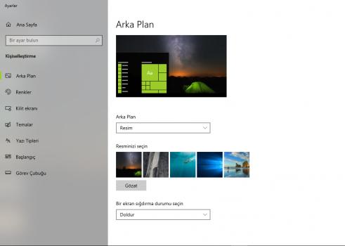 Windows 10 karanlık mod