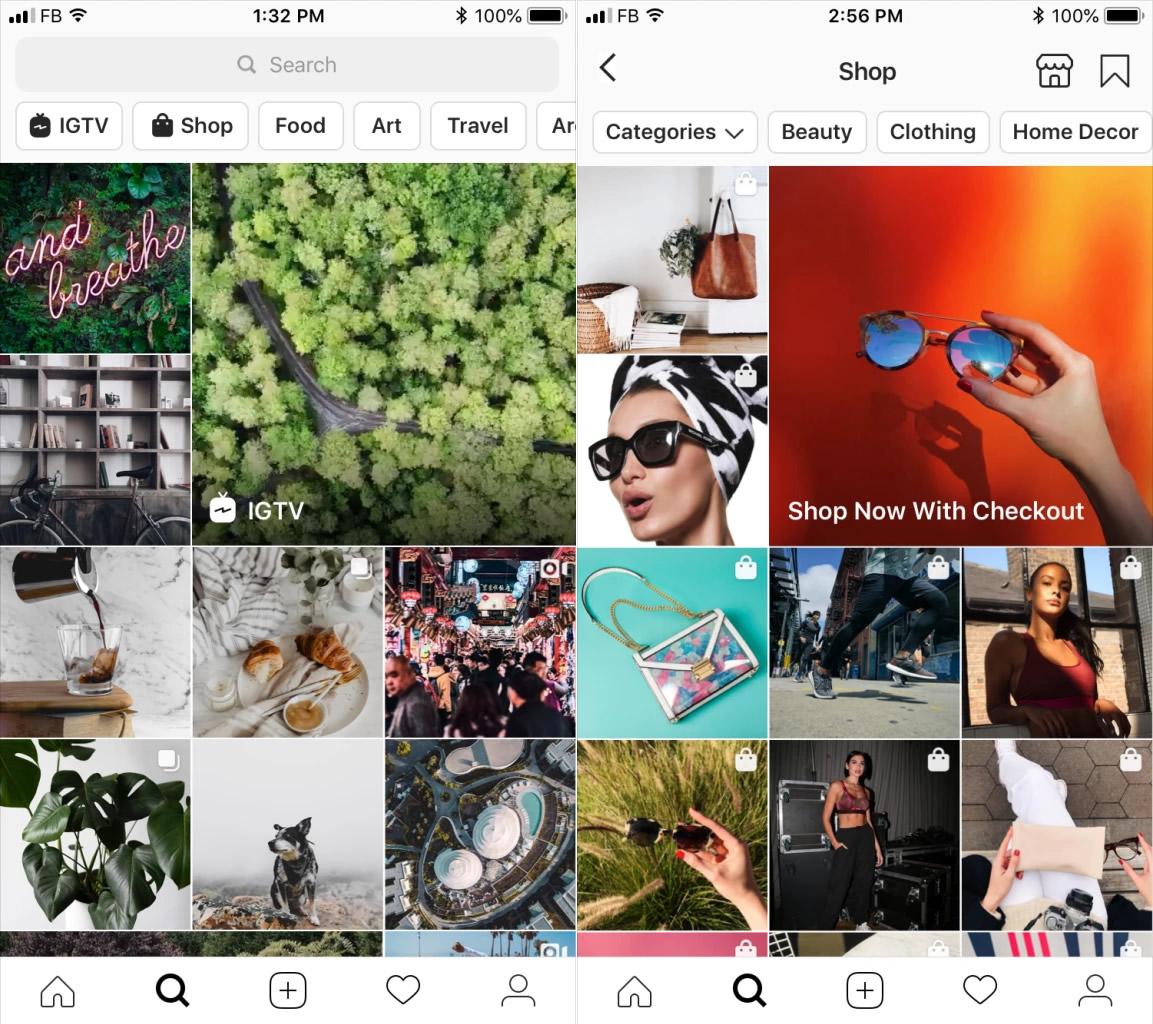 instagram Kesfet hikaye gösteriliyor.