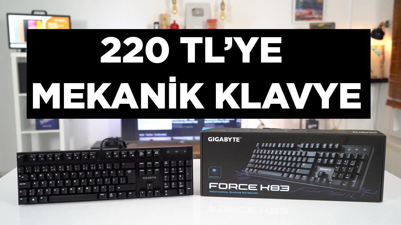 GIGABYTE GK-FORCE K83 inceleme