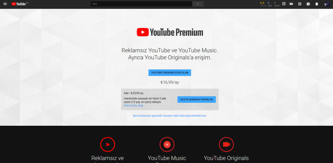 YouTube Premium Web