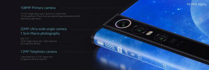 Xiaomi Mi Mix Alpha Kamera